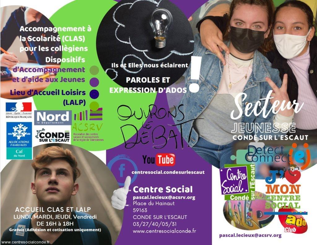 Brochure Jeunesse Condé sur l'Escaut/01